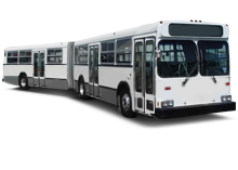 Articulated New Flyer buses for lease
