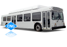 CNG New Flyer low floor buses for lease