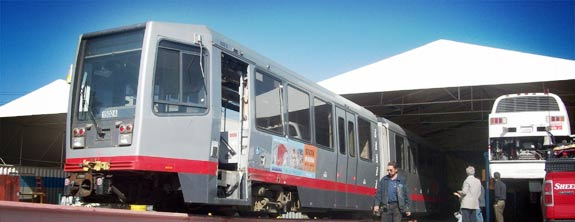 Complete Coach Works starts work on two SF MUNI LRVs